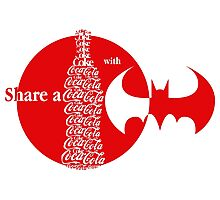 Share a Coke with Batman Photographic Print