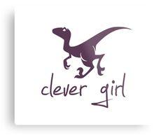 Clever Girl Dinosaur Velociraptor Metal Print