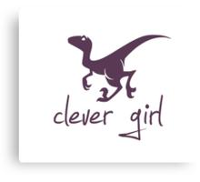 Clever Girl Dinosaur Velociraptor Canvas Print