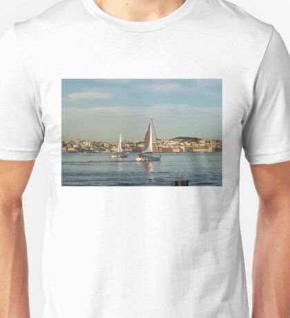 Sailing in Lisbon Portugal Unisex T-Shirt