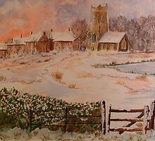 christmas, watercolour by paul boast