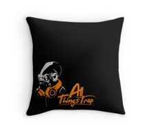 DJ ACKBAR (orange) Throw Pillow