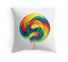 Lollipop Candy Shop Throw Pillow