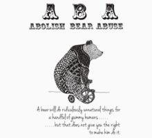 ABA - Circus Bear - Light Background Baby Tee