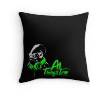 DJ ACKBAR (green) Throw Pillow