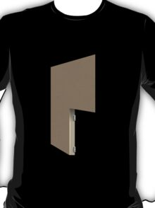 Glitch Homes Wallpaper lightbrown stucco right divide T-Shirt