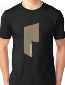 Glitch Homes Wallpaper lightbrown stucco right divide Unisex T-Shirt