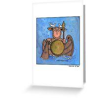 Warrior at sea Greeting Card
