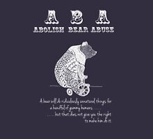 ABA - Circus Bear - Dark Background Unisex T-Shirt