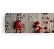 Wall of Rememberance Canvas Print