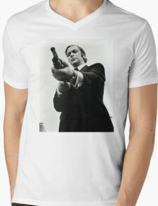 Don't fuck with Mr. Caine. Mens V-Neck T-Shirt