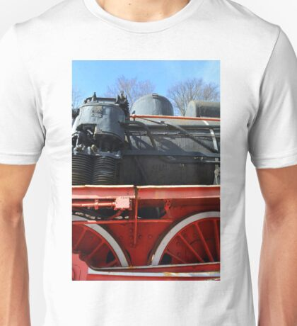 Detail of old vintage locomotive Unisex T-Shirt