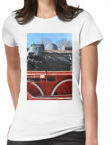 Detail of old vintage locomotive Womens Fitted T-Shirt