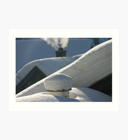 snow everywhere Art Print