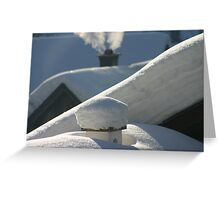 snow everywhere Greeting Card
