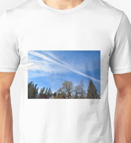 Forest trees against the cloudy sky Unisex T-Shirt