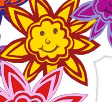 Happy Flowers Sticker
