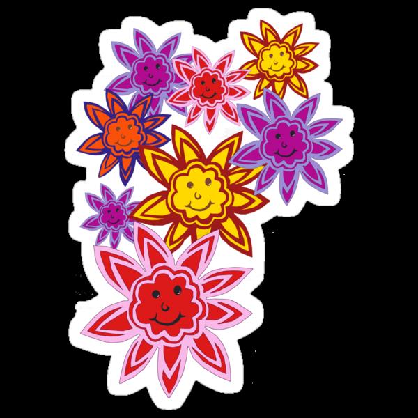 Happy Flowers by Anne van Alkemade