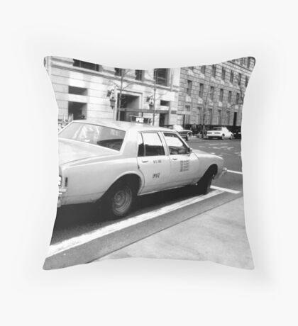 New York Cab Throw Pillow