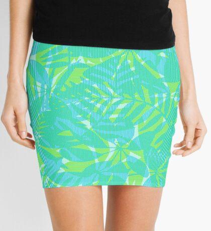 Striped tropical leaves Mini Skirt