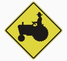 Farm Tractor Crossing sign  by Tony  Bazidlo