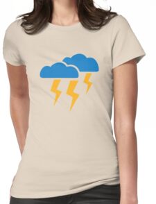 Thunderstorm lightning Womens Fitted T-Shirt