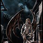 Robot Angel Painting 004 by Ian Sokoliwski