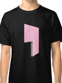 Glitch Homes Wallpaper pink stucco left divide Classic T-Shirt