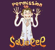 Permission to Squee Womens Fitted T-Shirt