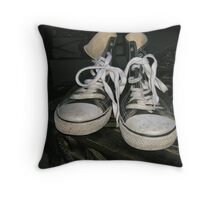 Happy Sneakers Throw Pillow
