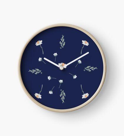 Wildflowers Pattern Clock