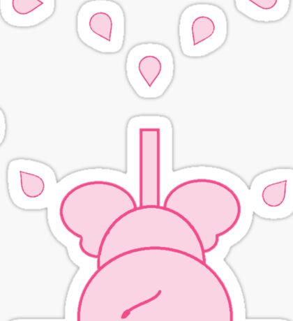 LITTLE LOVE ELEPHANT pink heart Sticker