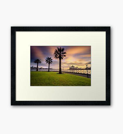 Opera House and Palm Trees Framed Print