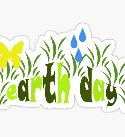 Earth Day Sticker