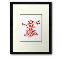 Chinese Food Take Out Framed Print