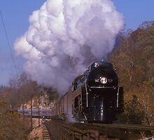 Norfolk & Western #611 Over The New River At Radford, VA by TrainmasterBob