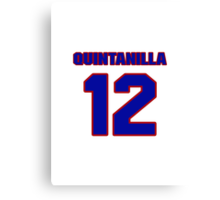 National baseball player Omar Quintanilla jersey 12 Canvas Print