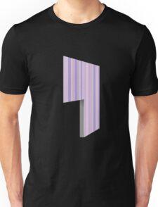 Glitch Homes Wallpaper purple stripes left divide Unisex T-Shirt