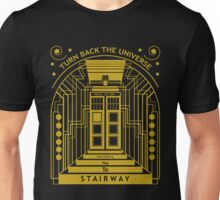 Stairway to the Universe in TARDIS Style Unisex T-Shirt
