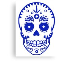 Sugar Skull 0001 blue Canvas Print