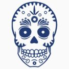 Sugar Skull 0001 blue by thatstickerguy