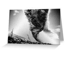 Metalic tornado Greeting Card