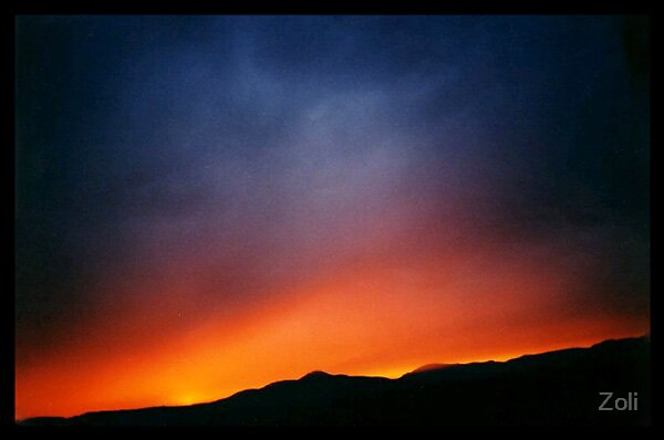 Sunset volcano by Zoli