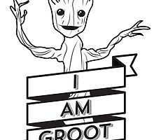 I AM GROOT by lugervandross