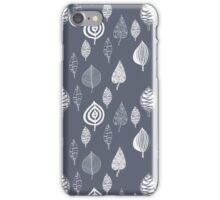 Blue and White Leaves iPhone Case/Skin