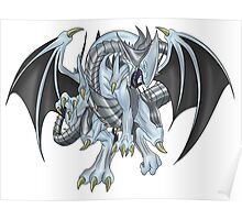 Azure-Eyes Silver Dragon Poster