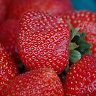 Strawberries Aglow by Carmen Mandel-Cesáreo