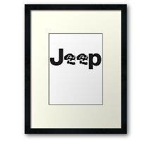 JEEP SKULLS Framed Print