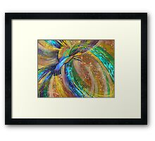 Rainbow Turbulence Framed Print