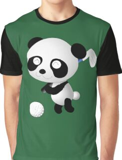 Golf Panda - Cute Funny Cartoon For Golfing Sports Lover People  Graphic T-Shirt